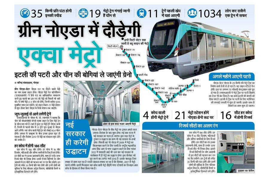 Aqua Metro runs into Green Noida